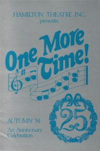 31b. One More Time program cover